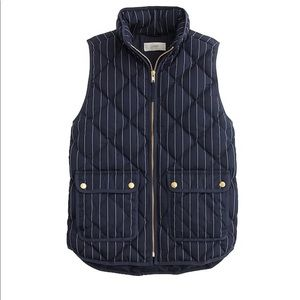 J. Crew Excursion Quilted Vest in Pinstripe